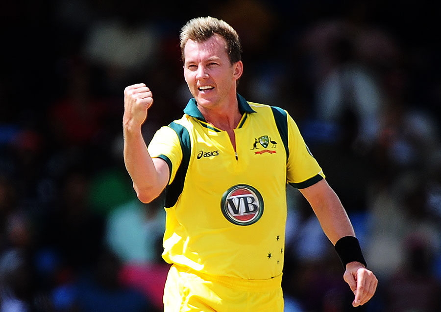 brett lee celebrating