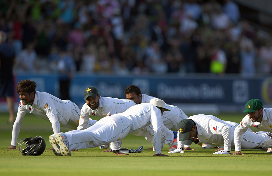 Pakistan 1st Test celebration