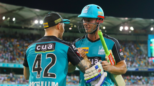 Chris Lynn and Brendon McCullum