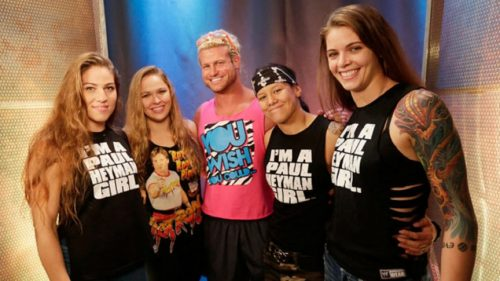 Ronda Rousey, pictured along with the members of the Four Horsewomen